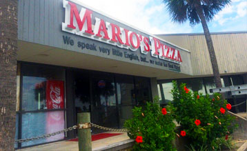 Mario's Pizza in Pirate's Beach